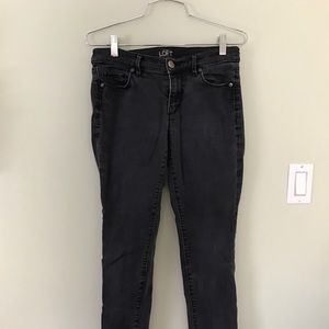 LOFT Skinny Black Washed Jeans