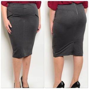 Dresses & Skirts - Charcoal Plus Size Skirt