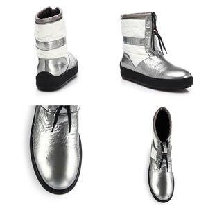 aquatalia Shoes - 💰 SALE! Aquatalia Quilted short silver boots