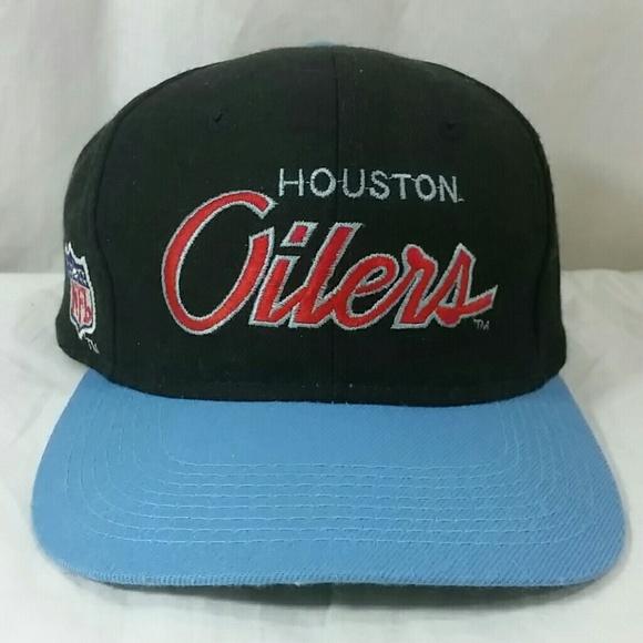 a8190ba4e611e Vintage Sports Specialties Hat Houston Oilers. M 58b5aff1f739bc10c00f7d5f