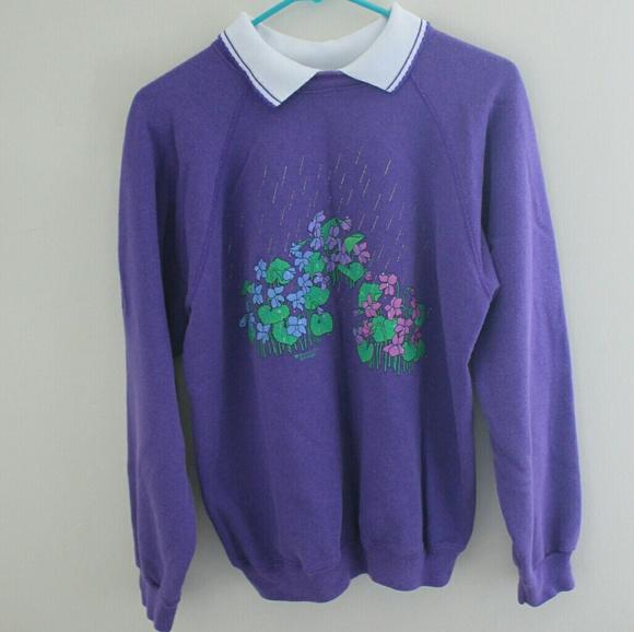 Vintage Sweaters - Vintage collared sweatshirt
