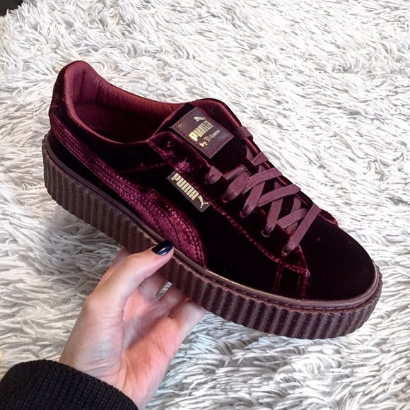reputable site b8c06 885a4 Puma Shoes | Rihanna Fenty Creepers In Royal Purple Velvet | Poshmark