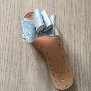 NWT kate spade cicely flat glitter sandals