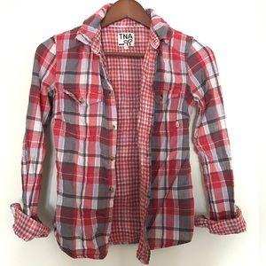 Aritzia Tops - Aritzia TNA - Plaid shirt with checkered lining
