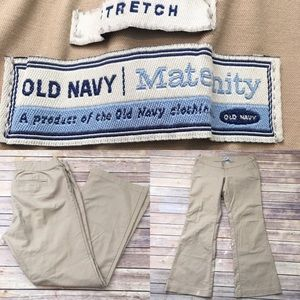 Sz Medium Old Navy Maternity Khaki Bootcut Pants