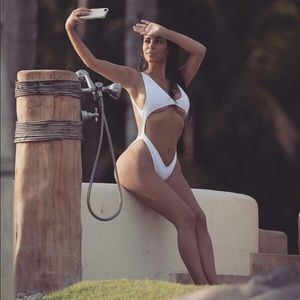 Other - White  backless swimwear one piece swimsuit  str