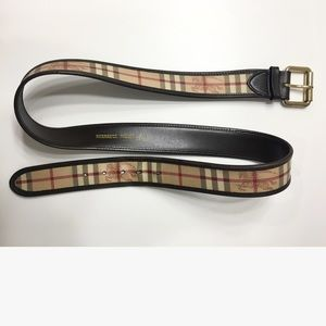 Burberry Other - Burberry Signature Check Belt