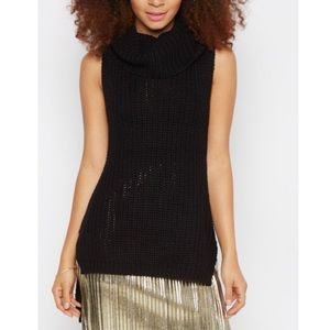 Black Cowl Neck Sweater