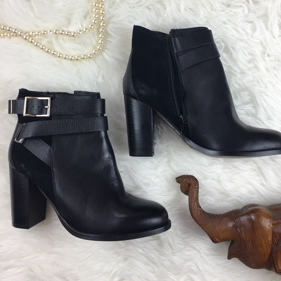 lower price with great deals popular brand Topshop Harper ankle boots booties Gold buckle 7.5 NWT