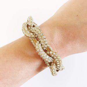 J.Crew Inspired Pave Link Bracelet
