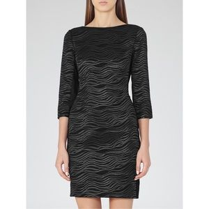 Reiss Dresses & Skirts - Reiss Textured Bodycon Dress with Mesh