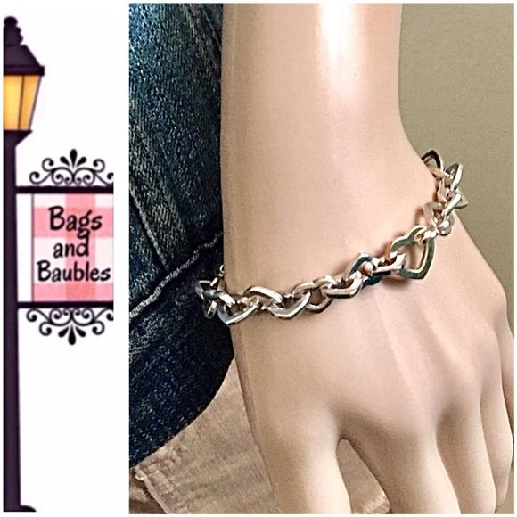 6b5323cd948 Tiffany & Co. Jewelry | Tiffany Co Silver Gold Heart Link Bracelet ...