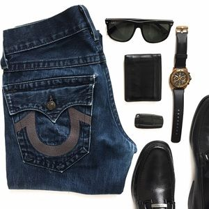 True Religion Other - True Religion Straight Leg Blue Jeans