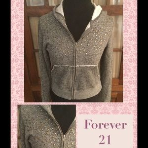 Forever 21 Hooded Cardigan