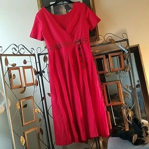 191 Unlimited Dresses & Skirts - DO Deborah Laws Vintage red dress size 12 7