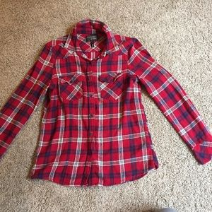 amazing lace Tops - Red cabin flannel