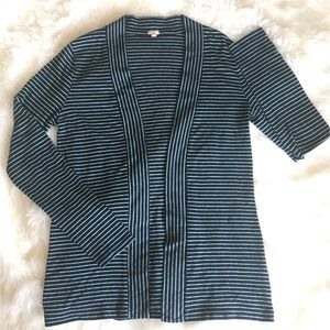 J. Crew Sweaters - J. Crew Factory | Thin Stripe Shawl Front Cardigan