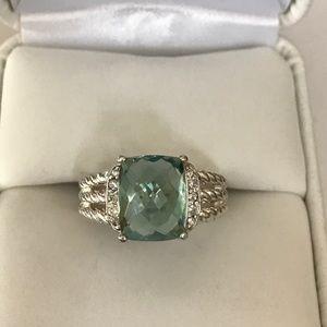 David Yurman Jewelry - David Yurman PrasoliteDiamond Sterling Silver Ring