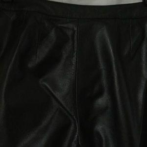 Ann Taylor Pants - Ann Taylor LOFT black leather pant