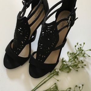 Call It Spring Shoes - Call It Spring black sandals