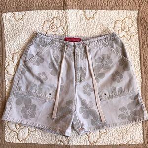 Gloria Vanderbilt Pants - Gloria Vanderbilt Floral Denim Shorts
