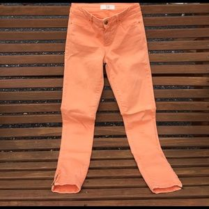 Zara Basic Peach Skinny Pants Size 2