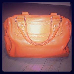 Celine Handbags - Vintage Celine orange boogie satchel tote bag