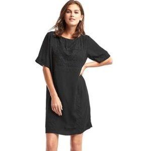 GAP Dresses & Skirts - NWOT Gap Flowy Black Embroidered Shift Dress