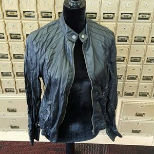 Black Poppy Jackets & Blazers - Black Poppy 100% Faux Leather Fitted Moto Jacket