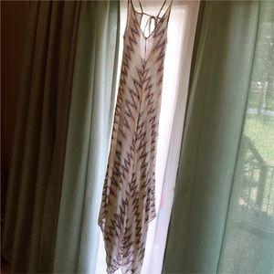 Altar'd State | Long Tribal Pastel Tie Maxi Dress