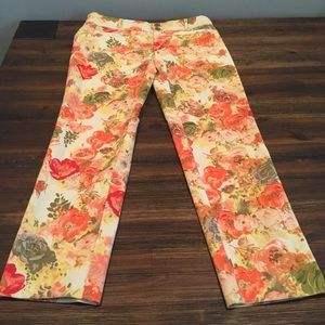 Anthropologie Cartonnier Floral Pants