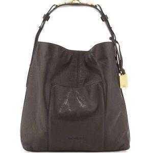 Rachel Zoe Handbags - Rachel Zoe black leather hobo purse w/ gold accent