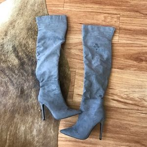 want my look Shoes - Want my look grey boots size 6