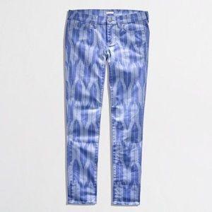 ☀️J. Crew printed twill skinny jeans