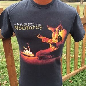 Hanes Other - Jimi Hendrix Experience Live At Monterey T Shirt