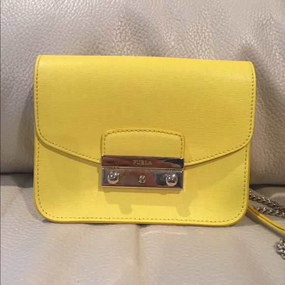 Furla Handbags - Furla mini metropolis bag yellow