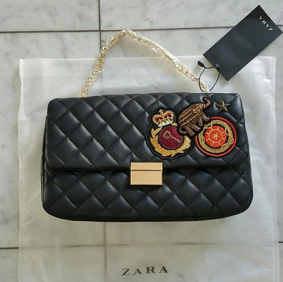 4831b0108f1 Zara Black Quilted Patches Purse. M_58b5decd99086ac804012f88