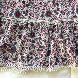 American Eagle Outfitters Dresses - American Eagle Burgundy & Pink Floral A-Line dress