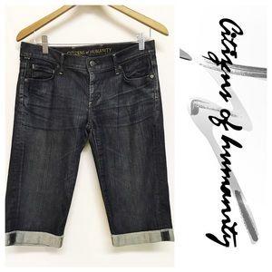 Citizens of Humanity Pants - Citizens of Humanity Dark Wash Bermuda Shorts