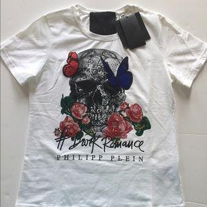 "Philipp Plein Tops - Philipp Plein ""Dark Romance"" T Shirt Sz 12 New"