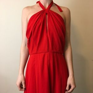 L'AGENCE Dresses & Skirts - L'Agence Red Halter Sexy Fire Skater Dress