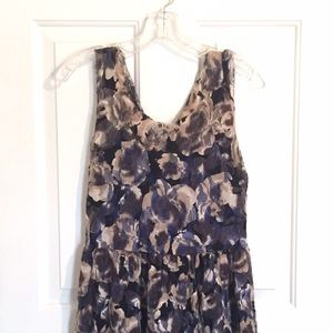 Urban Outfitters Dresses & Skirts - Lace floral dress with gathered waist.