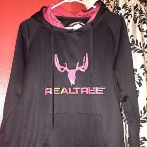 Real tree pink camo hoodie