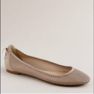 J.Crew Leather Perforated Ballet Flats