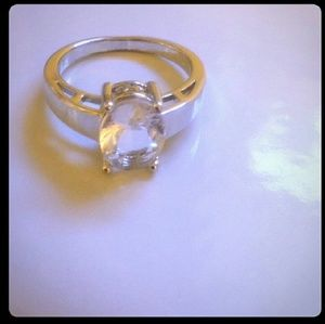 Zales Jewelry - White Sapphire Solitaire in .925 Silver ring