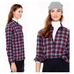 J. Crew Tops - J. Crew Plaid Boy Shirt