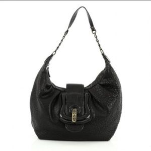 Fendi Handbags - FENDI black leather B hobo bag