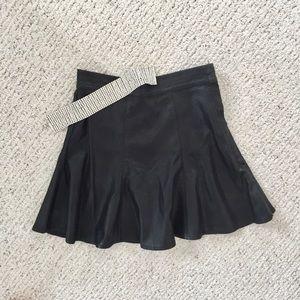  Tobi Faux Leather Mini Skirt