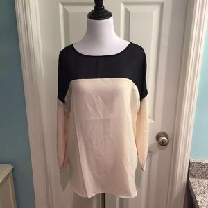 Ann Taylor Tops - Ann Taylor Sheer Wispy Color Block Blouse