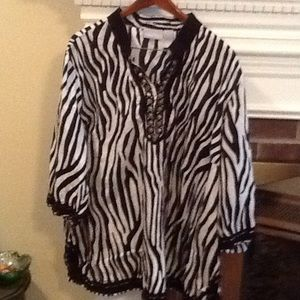 Liz & Me zebra print shirt
